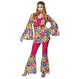 Hippie Feeling Groovy Ladies Fancy Dress Costume Medium 42-44