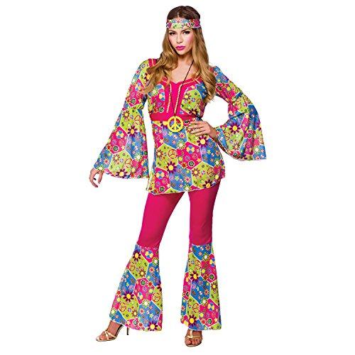 Feelin Groovy Adult Fancy Dress Hippie 60s Ladies Costume
