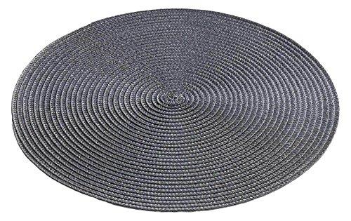 décor line ZEBULON Set de table Plastique Anthracite 35 x 35 cm