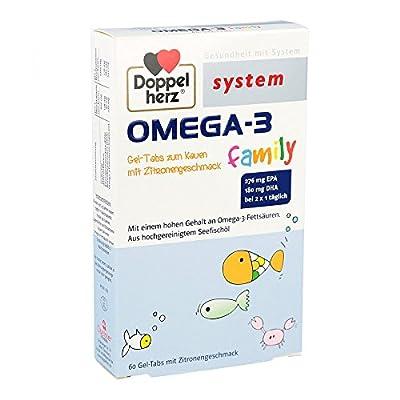 Doppelherz Omega-3 Family Gel-Tabs System Kautabletten, 60 S