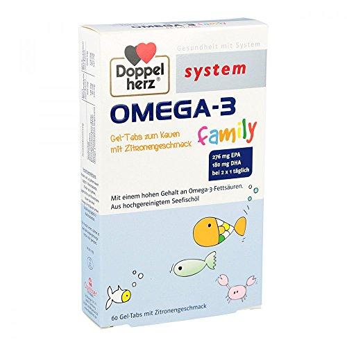 Preisvergleich Produktbild Doppelherz System Omega-3 Family, 60 St. Kautabletten
