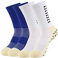 VBIGER 4 pares Calcetines antideslizantes para hombre Calcetines Deportivos de Invierno para Futbol Ciclismo Running Baloncesto