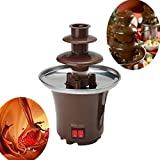 Mini Portable 3-tier Chocolate Fountain Machine Fondue Maker Heated PC Plastic Home Party Fountain EU Plug Regard - 2