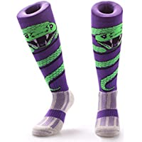 Samson Hosiery® Serpiente Wrap impresión Funky Novedad Moda Regalo Calcetines de fútbol RUGBY deportes y Casual rodilla alta calcetines para hombres mujeres niños unisex, color Snake Wrap, tamaño L