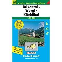 Freytag Berndt Wanderkarten, Brixental, Wörgl, Kitzbühel. 1:50000