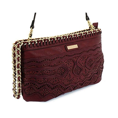 Borsa Scervino Street Cod. SCBPU0000048 Corine Rosso marrone bag red brown borsetta donna outlet borse tracolla made in italy