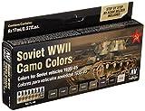 Acrylicos Vallejo: Set de acrílicos con los colores de camuflaje de la Unión Soviética en la...