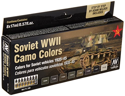 Acrylicos Vallejo'Soviet Wwii camo Colors' Model Air set
