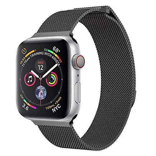 Takkar für Apple Watch1/2/3/4/Apple Watch 4/3/2/1 42mm/44mm - modisch, hochwertig und hautfreundlich - Metall Mesh Magnetverschluss Edelstahl Ersatzband für Apple Watch 42mm/44mm