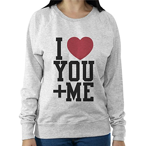 Felpa Leggera Donna Idea Regalo San Valentino I Love You + Me