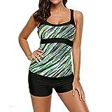 Juleya Damen Schwimmshirt Tankini Bademode Oberteil Große Größen Elegant Swimwear Strandbekleidung - Nur T-Shirt M L XL XXL XXXL XXXXL