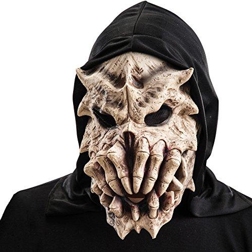 Carnival Toys - Máscara de látex esqueleto con huesos y capucha con encabezado, multicolor (788)