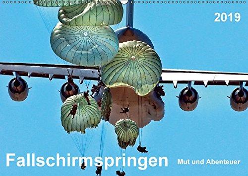 Fallschirmspringen - Mut und Abenteuer (Wandkalender 2019 DIN A2 quer): Fallschirmspringen - eine unglaublich extreme, aber auch faszinierende Erfahrung. (Monatskalender, 14 Seiten ) (CALVENDO Sport)