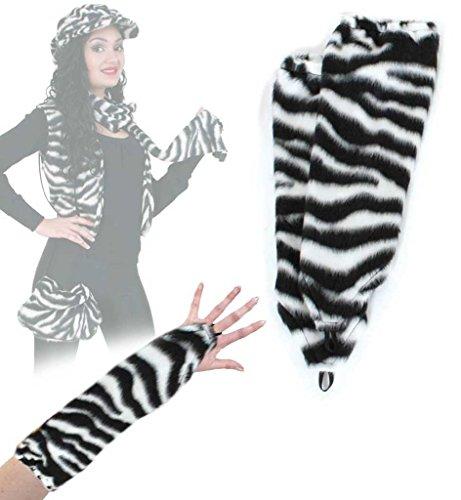 Armstulpen, Handschuhe, Einfinger, Tier - Muster, viele versch. Ausführungen, große Auswahl, für Erwachsene, Arm Sleeves, Accessoire, ideal für Karneval (Kostüm Bauern Muster)