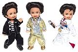 Barbie Collector # B3465  3 x kleine Elvis 10 cm groß