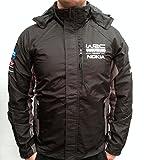 Monopoli de campeonatos WRC WORLD RALLY chaqueta resistente al viento, gris diseño de rayas