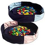 Aufräumsack Aufbewahrung Sack 100% Baumwolle Farbe: blau rosa NEU ❤
