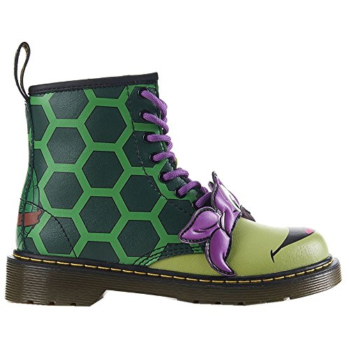 Dr.Martens Kids Donnie 1460 8 Eyelet Zip Green Leather Boots 36 ()