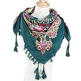 VRTUR Damen Mode Winter Herbst Drucken Quaste Blumen Schal Gedruckt Quaste Schal