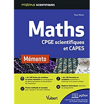 Mémento Maths - CPGE scientifiques (MPSI-PCSI-PTSI-MP-PSI-PC-PT-BCPST-TSI) et CAPES