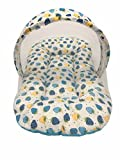 #10: GoodLuck Baybee - Baby Cotton Printed Carry Net Bed baby sleeping bag with mosquito net for New Born Baby | Sleeping Bed Cum Bedding Set | Baby Mattress Carry bag For New Born Babies| (0-6 Months) -(Blue)
