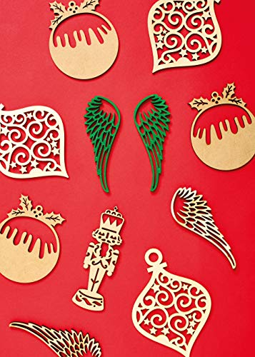 Create Christmas Decorative Wooden Angel Wings, One Size