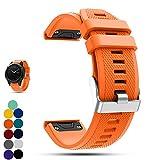 Garmin f?nix 5 GPS-Multisport-Smartwatch Uhr Ersatzband, iFeeker Weiche Silikon Schnellinstallation Armbanduhr Gurt Riem