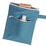 Kadambaby - blue polka Wet Travel Bag for baby, Waterproof Bag for Diapers , Nappy or swimming, Swim Bag