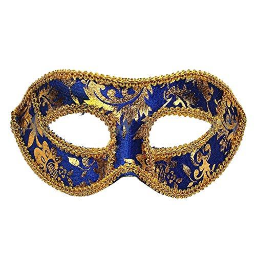 Venetianische Maskerade Phantasie Halloween Karneval Kostüm Kleid Ball Augenmaske Partei - Blau