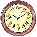 Wanduhr Singvögel Singende Vogeluhr Singvögeluhr Wanduhr mit 12 Vögel Natur