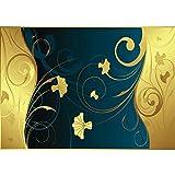 Vlies Fototapete PREMIUM PLUS Wand Foto Tapete Wand Bild Vliestapete - Ornamente Ranke Blatt Linien Schwung - no. 564, Größe:200x140cm Vlies