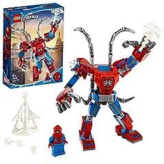 Idea Regalo - LEGO Super Heroes Il Mech di Spider-Man Set di Costruzioni per Bambini, con la Minifigure di SpiderMan e Ragnatela Acciuffa-Furfanti, +6 Anni, 76146