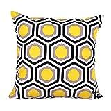 Yistu Pillow Case , Geometric Shape Sofa Bed Home Decor Pillow Case (Yellow)