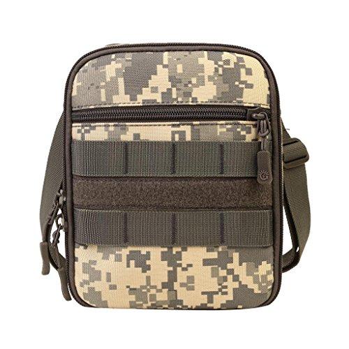 Gazechimp Taktisch Molle Beutel Umhängetasche Outdoor Sporttasche Kleine Handtasche mit Schultergurt Schultertasche ACU Camo