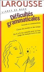 Difficultés grammaticales