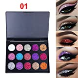 #6: 15 Colors Shimmer Glitter Eye Shadow Powder Palette Matte Eyeshadow Cosmetic Makeup (A)