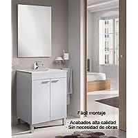 Hogar Decora Mueble de Baño con Espejo y Lavabo de PMMA (no la Clásica cerámica), Incluido con Grifo Monomando - mueblesdebanoprecios.eu - Comparador de precios
