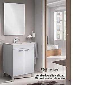 Hogar Decora Mueble de Baño con Espejo y Lavabo de PMMA (NO Clásica cerámica), con Grifo Monomando