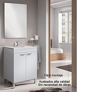51SRF0lE1tL. SS324  - Hogar Decora Mueble de Baño con Espejo y Lavabo de PMMA (NO Clásica cerámica), con Grifo Monomando