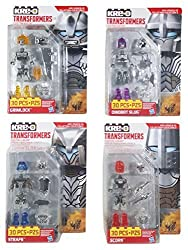 Kre-O Transformers Micro Changers Age of Extinction (AOE) Custom Kreons Collection 3 Bundle 4 Pack Includes: Grimlock