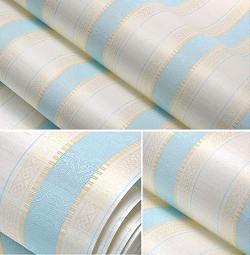 Wallpaper FANGQIAO SHOP Tapete Moderne minimalistische vertikale Streifen Wohnzimmer Schlafzimmer Wand Vliestapete (Color : Blue)