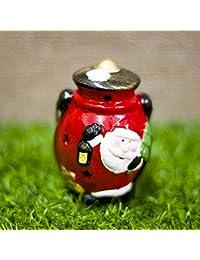 Moliies Christmas Ceramic Wind Light Pendant Decoration Santa Snowman Painted Decorative Ornaments Christmas Decorations