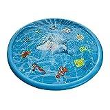 QUUY Splash Pad - 170 cm Splash speelmat | Opvouwbare opblaasbare Sprinkler mat, outdoor tuin waterspray speelgoed, plezier watermat familieactiviteiten