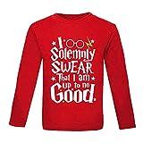 Baby-T-Shirt, 1. Geburtstag Geschenk für Jungen, 1. Geburtstag Geschenke für Mädchen, Lustige Harry Potter Spruch braun Red Long Sleeve