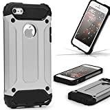 Urcover Coque Armor Protection Steel Series Hybrid | Apple iPhone Se / 5 / 5s |...