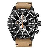 Uhr Vagary Aqua 39IA9–641–50Quarz (Batterie) Stahl Quandrante schwarz Armband Leder