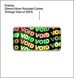 Hologram Stickers,Void 30 x 15 Mm, Pack of 3600