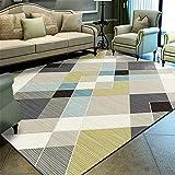 Mengjie Modern Flauschiger Hochflor Shaggy Einfarbig Teppich Rechteckige graue gelbe 7MM Dicke für Wohnzimmer, Schlafzimmmer, Kinderzimmer, Esszimmer,160 * 230CM