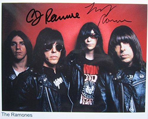 Superb Ramones 10x 8firmato foto + (Superb Gioiello)