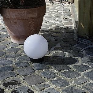 Lampe sphérique diamètre 25 cm - avec 2m Fil en caoutchouc avec connecteur
